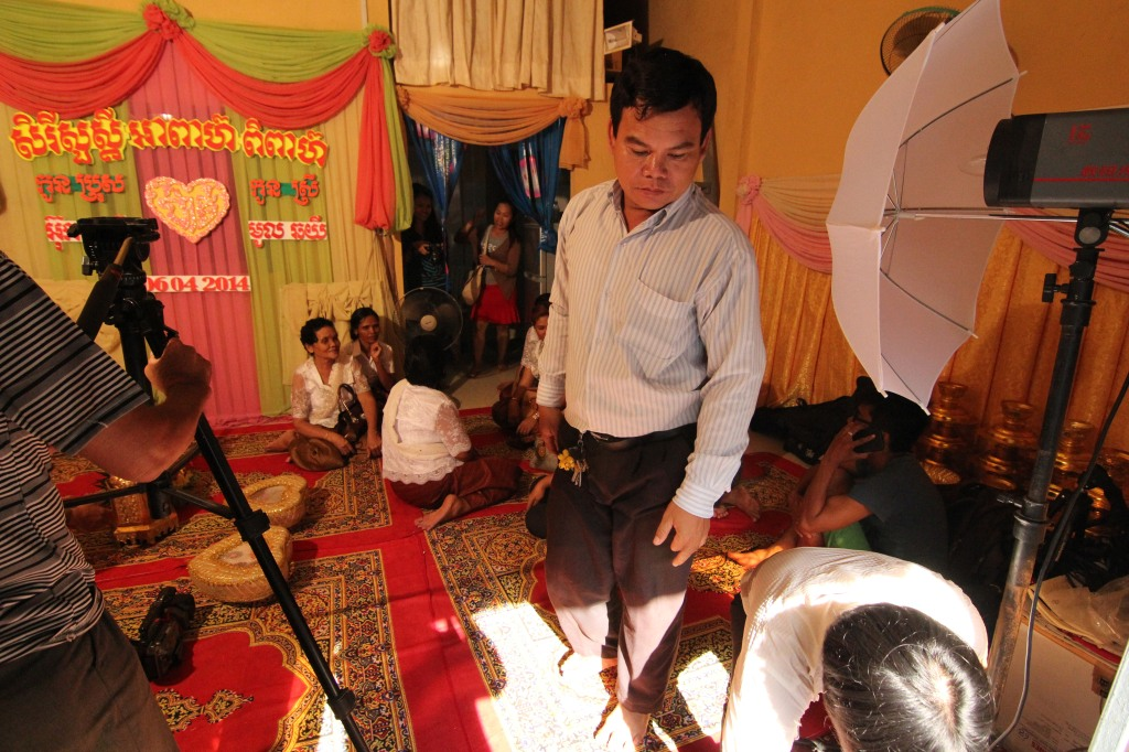 Bride's father inspects the Khmer wedding decorations in Phnom Penh, Cambodia. From the webseries pilot,