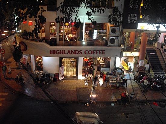 Highlands Coffee Shop in Hcmc