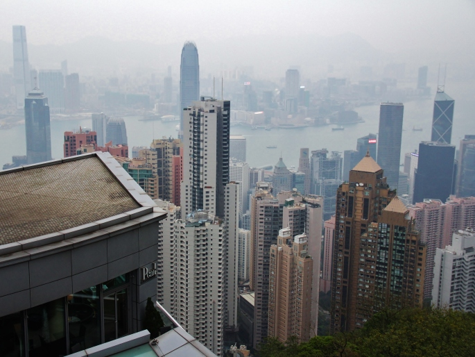 Mid and Central Hong Kong from The Peak. Image (c) Benjamin J Spencer