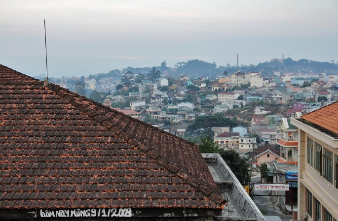Dalat, Vietnam from near our guesthouse. Image (c) 2014 Stacy Libokmeto