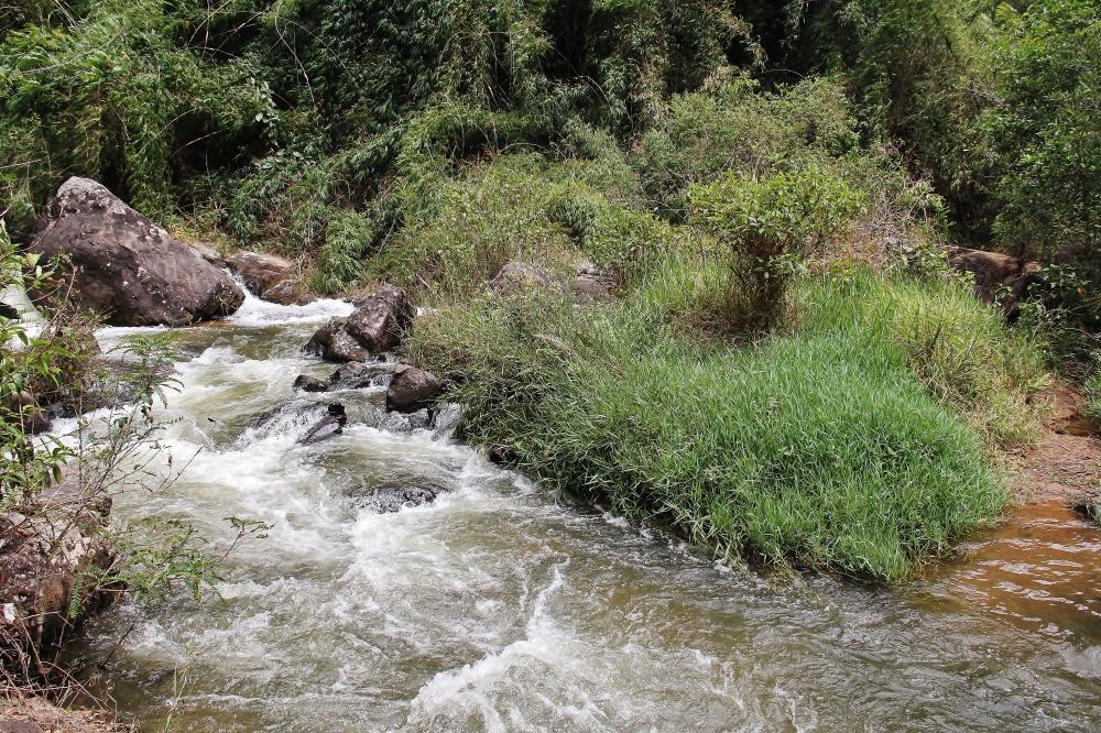 Rapids at lower falls. (c) 2014 Benjamin J Spencer