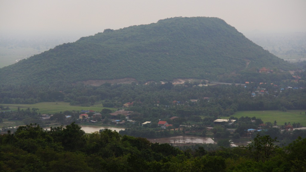 Tiger Mountain from atop Phnom Sampeau. Image (c) 2014 Benjamin J Spencer
