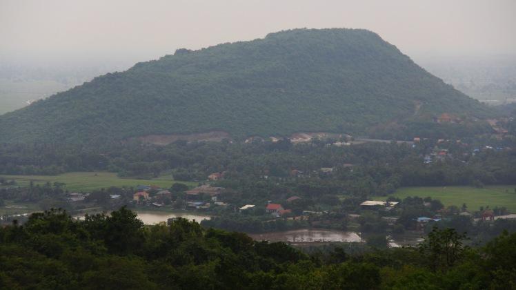 Tiger Mountain from atop Phnom Sampeau. Image (c) 2014 Benjamin J Spencer